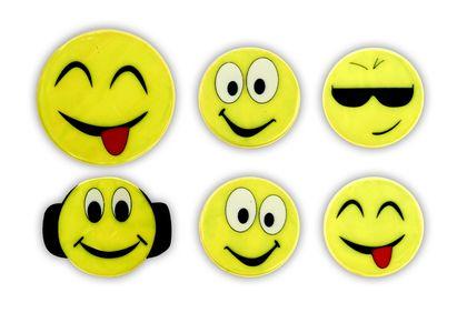 Reflective Sticker (smileys II - set of 6)