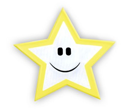 Reflective Sticker (star, pack of 5)