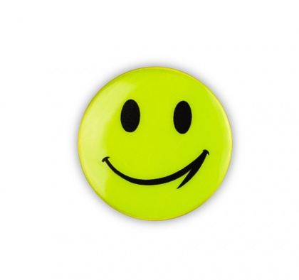 Reflective Sticker (yellow smiley, pack of 5)