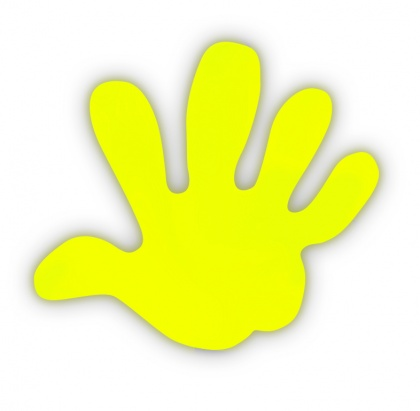 Reflective Sticker (yellow palm, pack of 5)