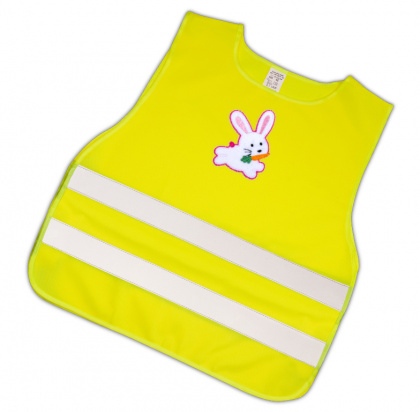 Child Reflective Safety Vest (pink hare)