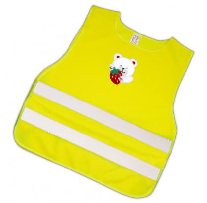 Child Reflective Safety Vest (teddy with strawberry)