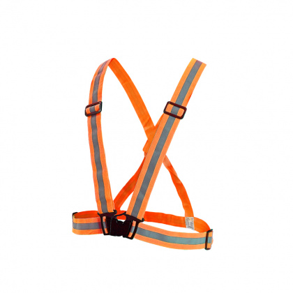 Reflective Elastic Suspenders (orange)