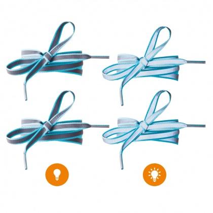 Reflective Shoe Laces (light blue)