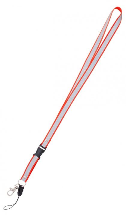 Reflective Neck Strap Keychain (red)