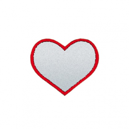 Reflective Iron-On Patch (heart)
