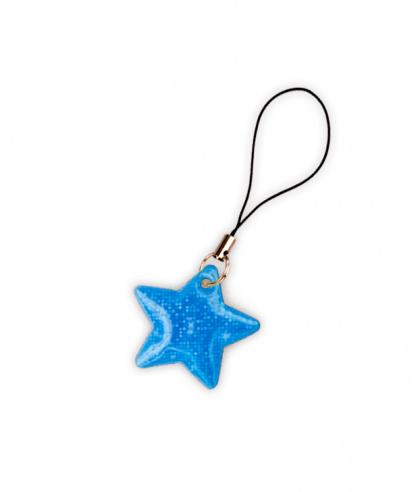 Reflective Zipper Puller (blue star)