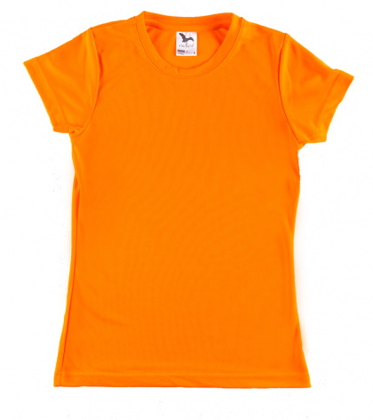 Sports T-shirt for Ladies (fluorescent orange, XS-XL)