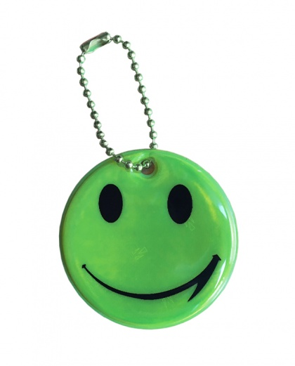 3M Reflective Pendant (green smiley)