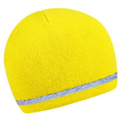 Winter Hat with Reflective Edge (yellow)
