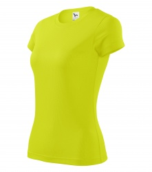 Sports T-shirt for Ladies (fluorescent yellow, XS-XL)