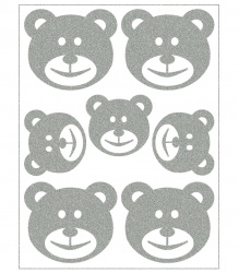 Reflective Iron-On Motifs (teddies)