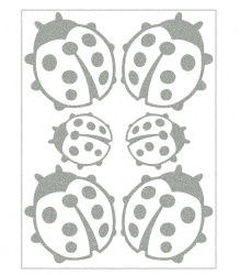 Reflective Iron-On Motifs (ladybugs)