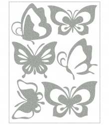 Reflective Iron-On Motifs (butterflies)