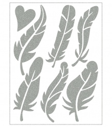 Reflective Iron-On Motifs (feathers)