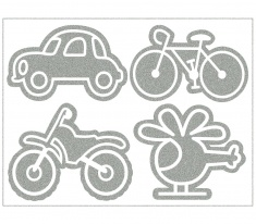 Reflective Iron-On Motifs (vehicles)