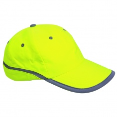 Baseball cap with reflective tape - YELLOW