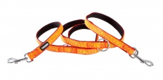 Reflective switching leash for dogs – ORANGE