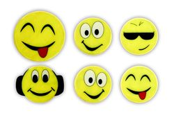 Reflective Sticker (smileys II - set of 6)