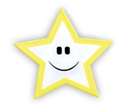 Reflective sticker – star, pack of 5
