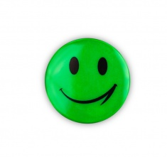 Reflective Sticker (green smiley, pack of 5)