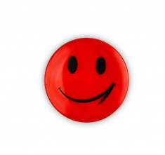 Reflective Sticker (orange smiley, pack of 5)