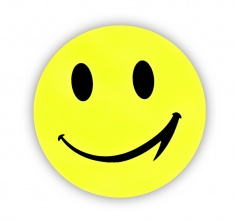 Reflective Sticker (big smiley, pack of 5)