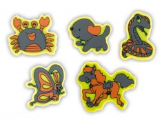 Reflective Sticker (animals II, pack of 5)
