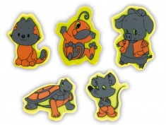 Reflective Sticker (animals I, pack of 5)