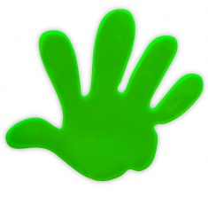 Reflective Sticker (green palm, pack of 5)