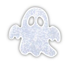 Reflective Sticker (ghost, pack of 5)