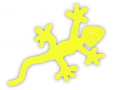 Reflective sticker – lizard, pack of 5