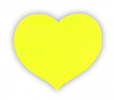 Reflective Sticker (yellow heart, pack of 5)