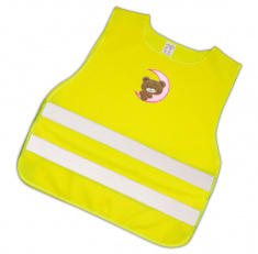 Child Reflective Safety Vest (teddy with pink moon)
