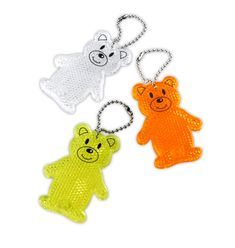 Reflective pendant – reflector – yellow teddy bear