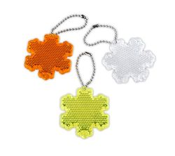 Pendant Reflector (orange snowflake)