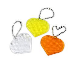 Reflective pendant – reflector – yellow heart
