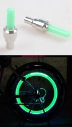 LED illuminated wheel valves