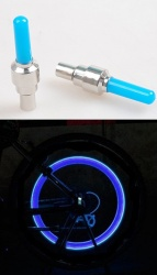 LED illuminated wheel valves