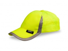 Cap with reflective stripes for adults
