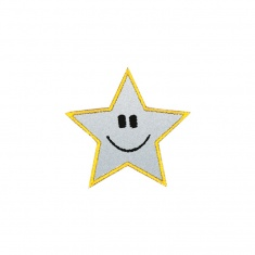 Reflective Iron-On Patch (star)