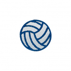 Reflective Iron-On Patch (blue ball)