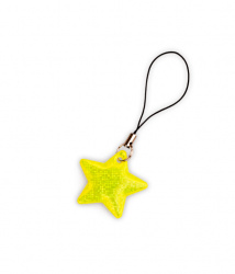 Reflective Zipper Puller (yellow star)