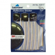 Reflective bike stickers