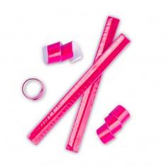 Reflective snap band, pink