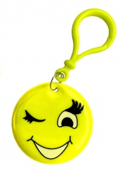 3M Reflective Pendant (winking smiley)