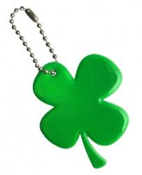 Reflective Pendant (green cloverleaf)