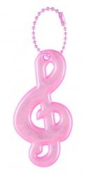 3M Reflective Pendant (pink treble clef)