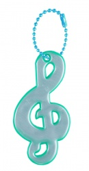 3M Reflective Pendant (green treble clef)