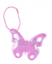 3M Reflective Pendant (pink butterfly)